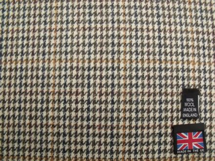 100% Wool Gun Club Check Fabric BZ11